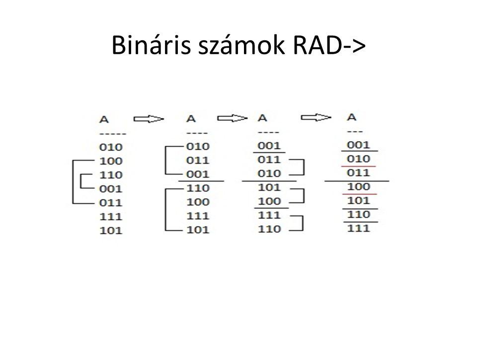 Bináris számok RAD->