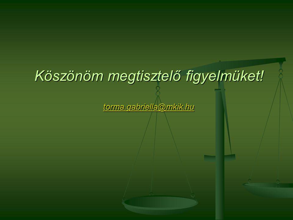 Köszönöm megtisztelő figyelmüket! torma.gabriella@mkik.hu torma.gabriella@mkik.hu