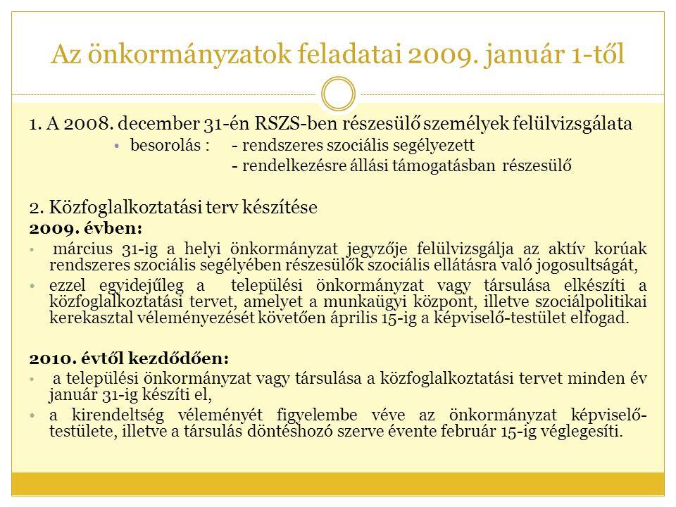 Az önkormányzatok feladatai 2009. január 1-től 1.