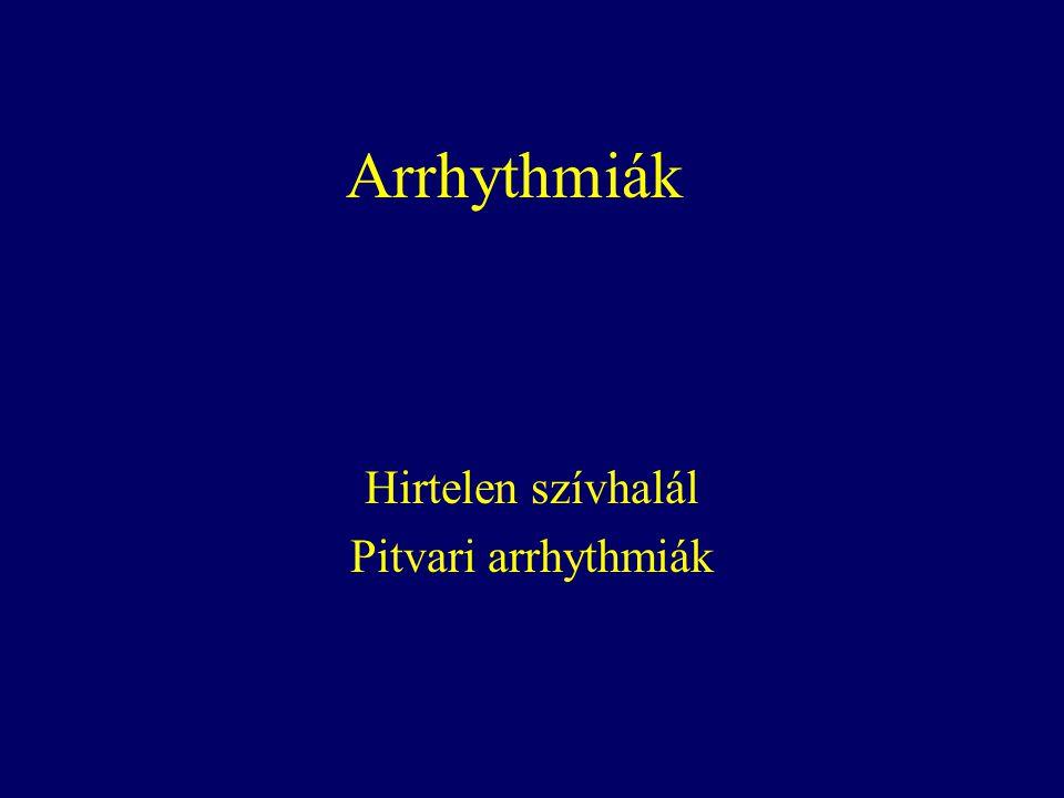 Arrhythmiák Hirtelen szívhalál Pitvari arrhythmiák