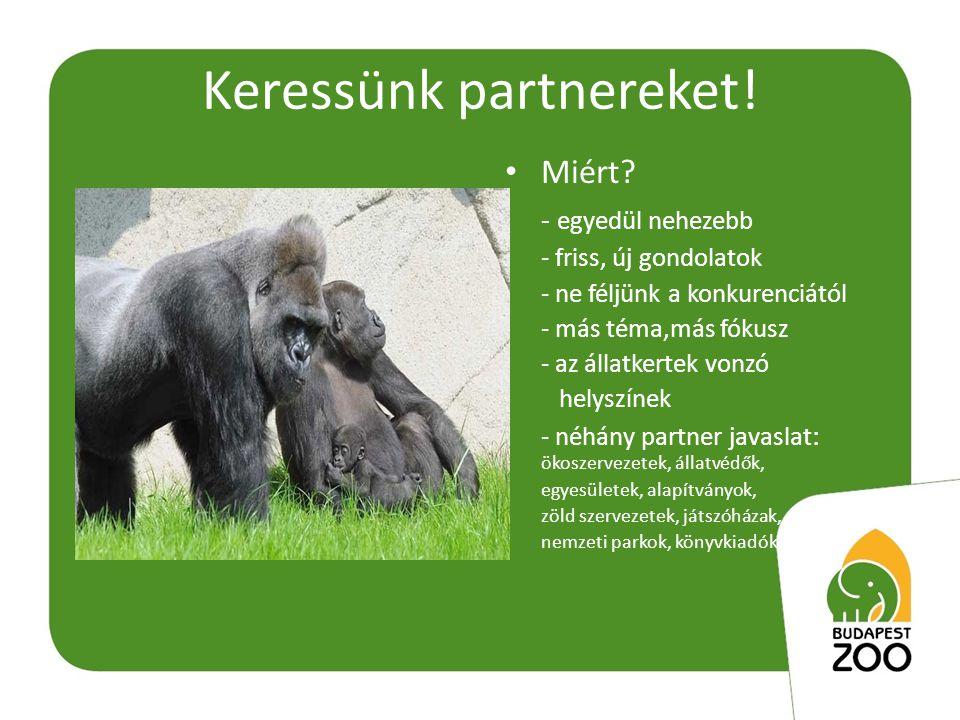 Keressünk partnereket. • Miért.