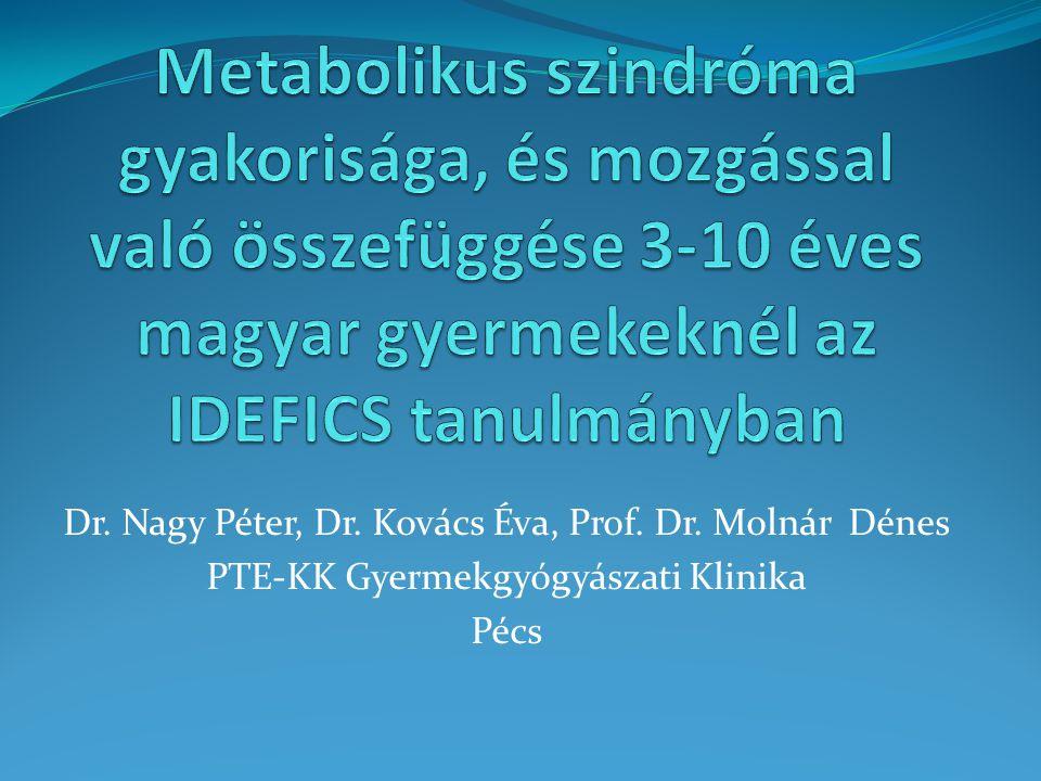 Háttér  Gyermekkori elhízás globális problémát jelent  2005-ös IOTF adat szerint 14 millió túlsúlyos, és 3 millió elhízott gyermek él Európában 1  Túlsúlyos gyermekek száma évről-évre 400.000-el növekszik 1  Magyarországon is nagy problémát jelent  Ülő életmód növekedése, megváltozott étrendi szokások  Kihat a felnőttkori szív- és érrendszeri rizikóra 1 Tim Lobstein, Neville Rigby, Rachel Leach: International Obesity Task Force EU Platform Briefing Paper prepared in collaboration with the European Association for the Study of Obesity, 2005 www.iaso.org