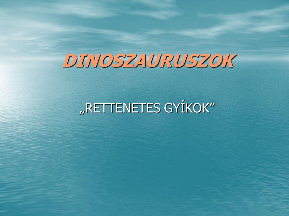 """DINOSZAURUSZOK """"RETTENETES GYÍKOK"""""""