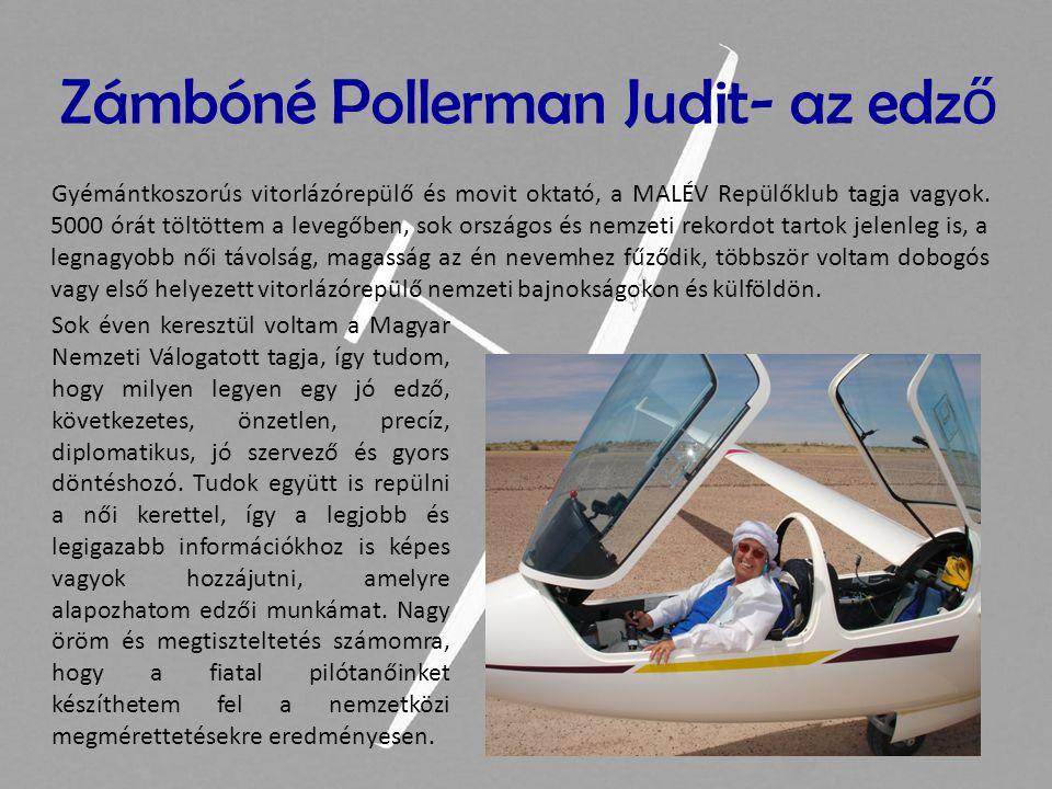 Gyémántkoszorús vitorlázórepülő és movit oktató, a MALÉV Repülőklub tagja vagyok. 5000 órát töltöttem a levegőben, sok országos és nemzeti rekordot ta