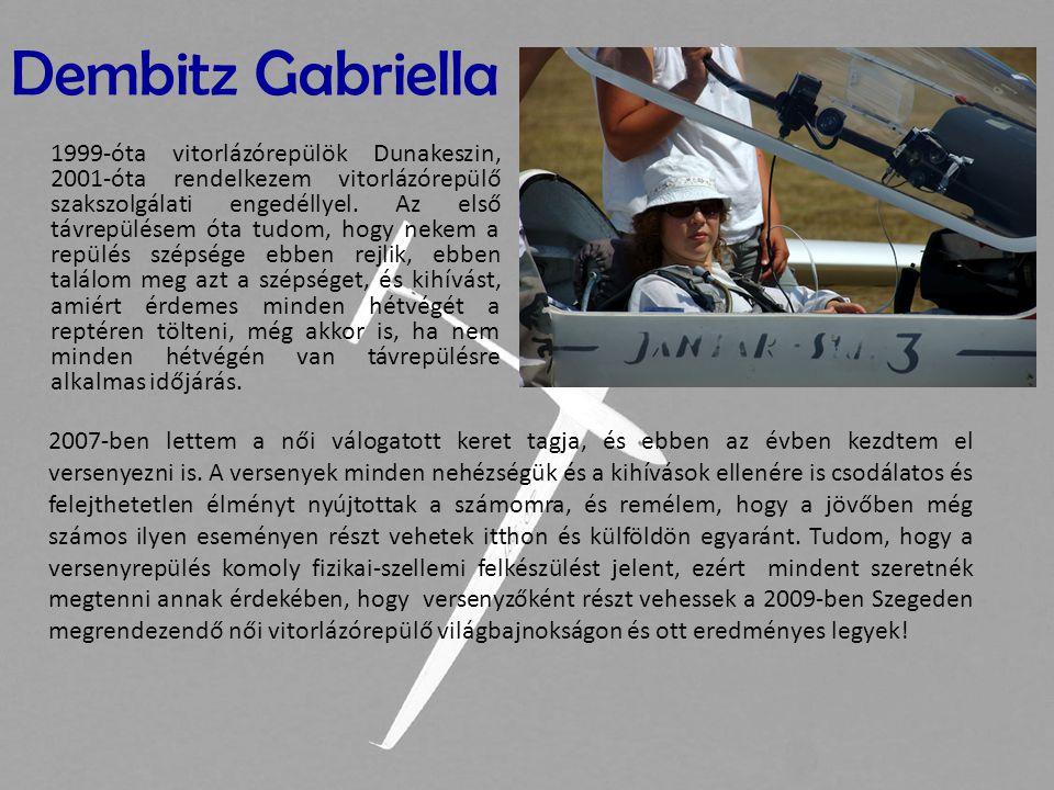 1999-óta vitorlázórepülök Dunakeszin, 2001-óta rendelkezem vitorlázórepülő szakszolgálati engedéllyel. Az első távrepülésem óta tudom, hogy nekem a re
