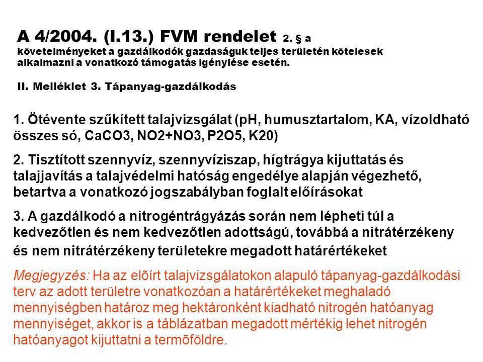 A 4/2004.(I.13.) FVM rendelet 2.