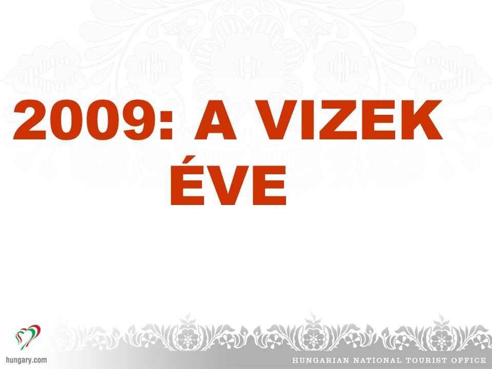 2009: A VIZEK ÉVE
