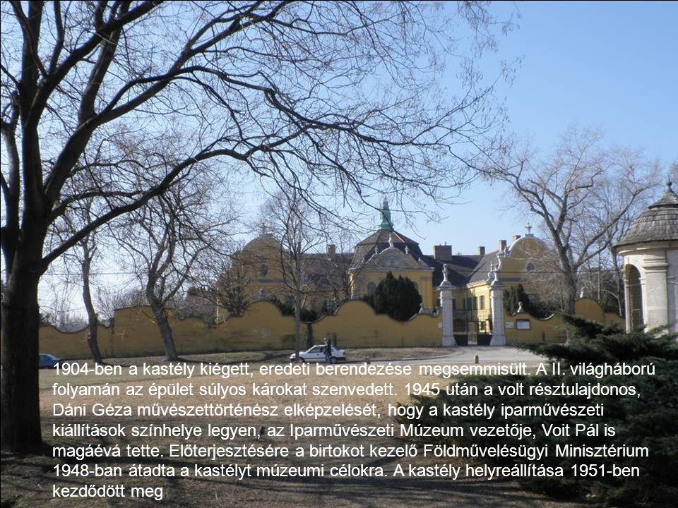 1798 után a kastélyt a család oldalági leszármazottai örökölték, három részre osztva.