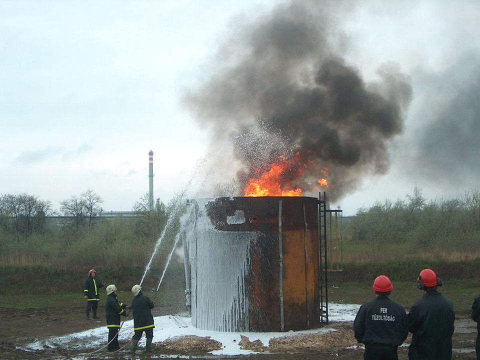 Kistartály tűzoltás Small tank fire