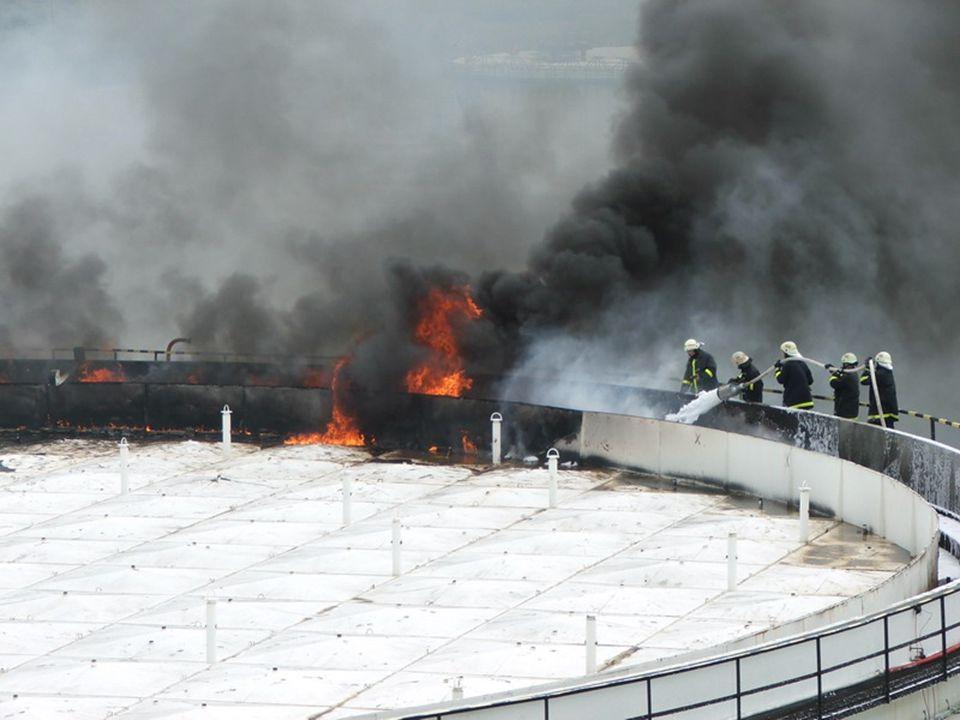 Kőrgyűrűtűz oltás Rimseal fire extinguishing