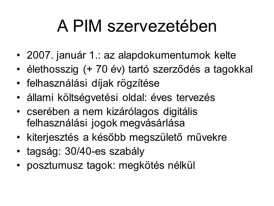 A PIM szervezetében •2007.