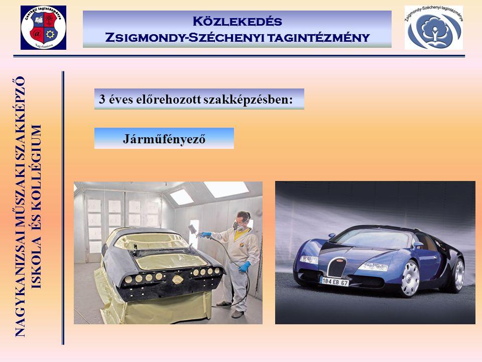 NAGYKANIZSAI MŰSZAKI SZAKKÉPZŐ ISKOLA ÉS KOLLÉGIUM Közlekedés Zsigmondy-Széchenyi tagintézmény 3 éves előrehozott szakképzésben: Járműfényező