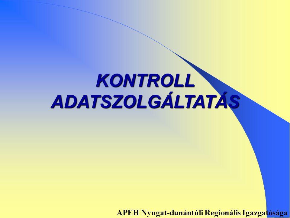 Könyvelés adófolyószámlára Alapbevallásról: 01-es és 02-es lap adatai könyvelődnek Helyesbítő, önellenőrzést tartalmazó bevallásról: Önellenőrzési lap adatai könyvelődnek APEH Nyugat-dunántúli Regionális Igazgatósága
