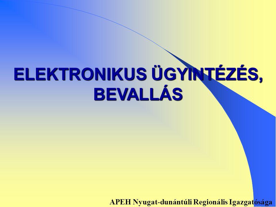 Kontroll adatszolgáltatás Benyújtás elektronikus úton: 1) 1) Ellenőrzés, feladásra előkészítés: EKON07zip, EKON08zip 2) 2) E07, E08 számú adatkísérő elkészítése 3) 3) Küldésre átadás 4) 4) Ügyfélkapu, adó-és járulék bevallások APEH Nyugat-dunántúli Regionális Igazgatósága