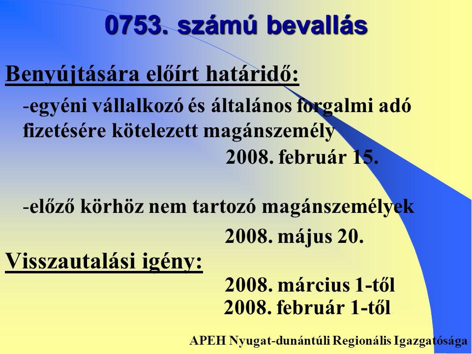 Az adóhatósági adómegállapítás (ADAM) határidői • •2008.