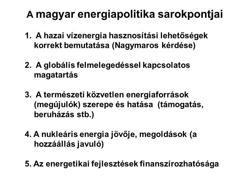 A magyar energiapolitika sarokpontjai 1.