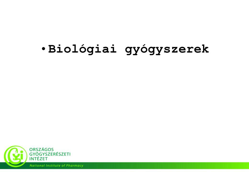 •Biológiai gyógyszerek