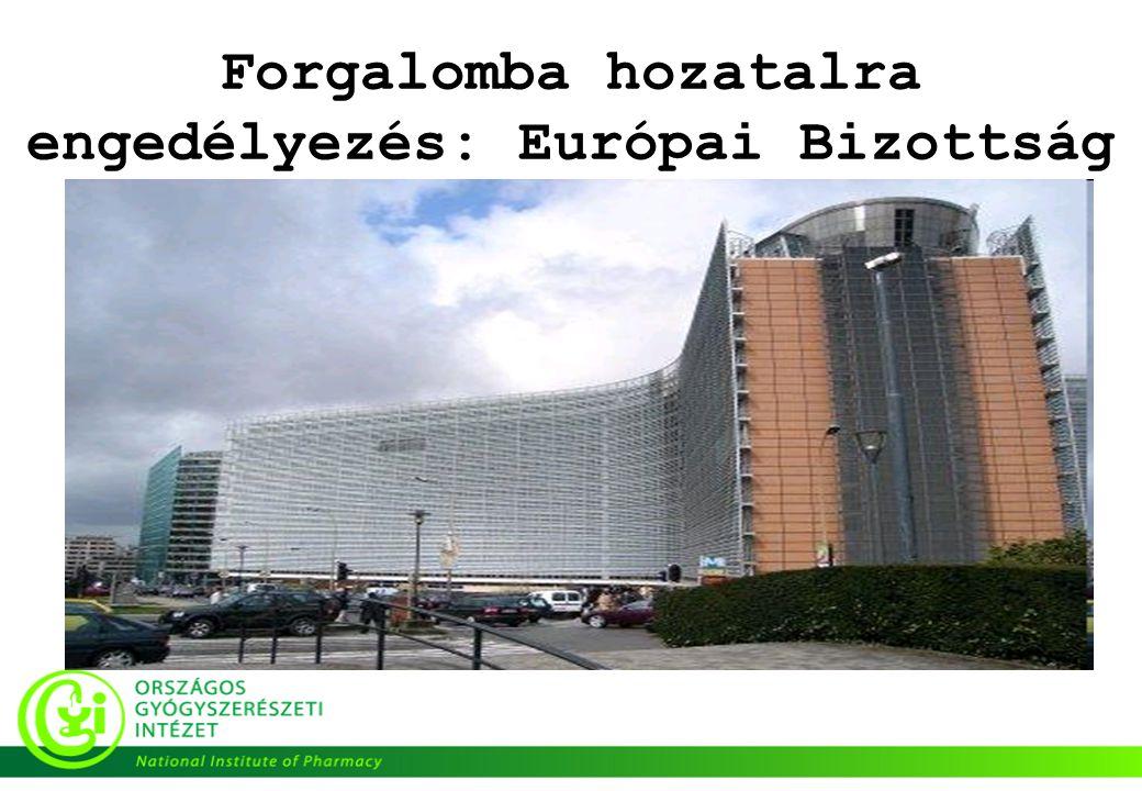 Forgalomba hozatalra engedélyezés: Európai Bizottság