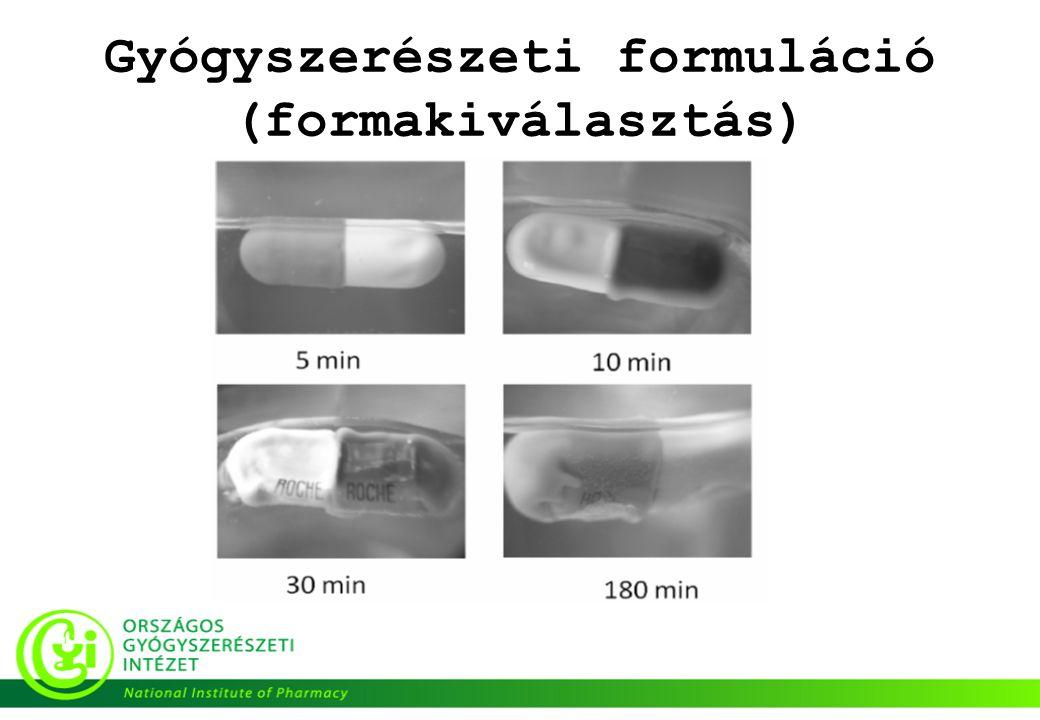 Gyógyszerészeti formuláció (formakiválasztás)