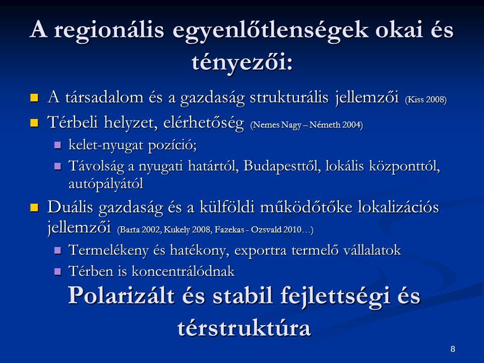29 A krízis kezdetén: ÉNY Dunántúlon a legnagyobb a visszaesés Elbocsátások 2.