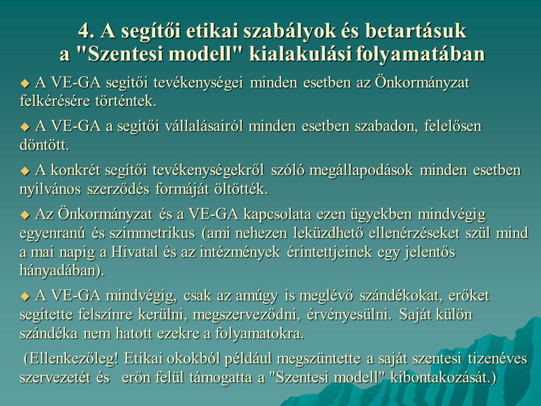 4. A segítői etikai szabályok és betartásuk a