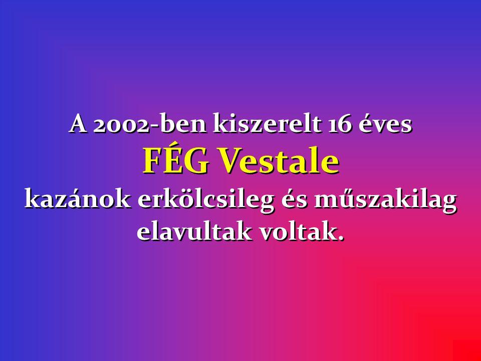 A 2002-ben kiszerelt 16 éves FÉG Vestale kazánok erkölcsileg és műszakilag elavultak voltak.