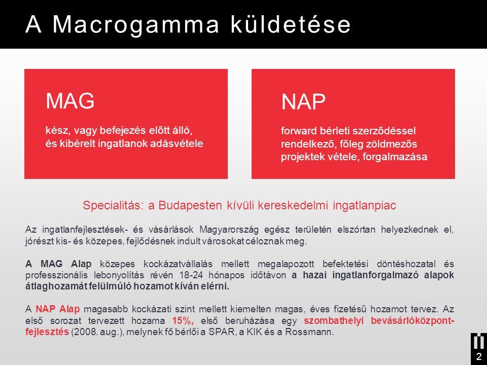 Specialitás: a Budapesten kívüli kereskedelmi ingatlanpiac Az ingatlanfejlesztések- és vásárlások Magyarország egész területén elszórtan helyezkednek