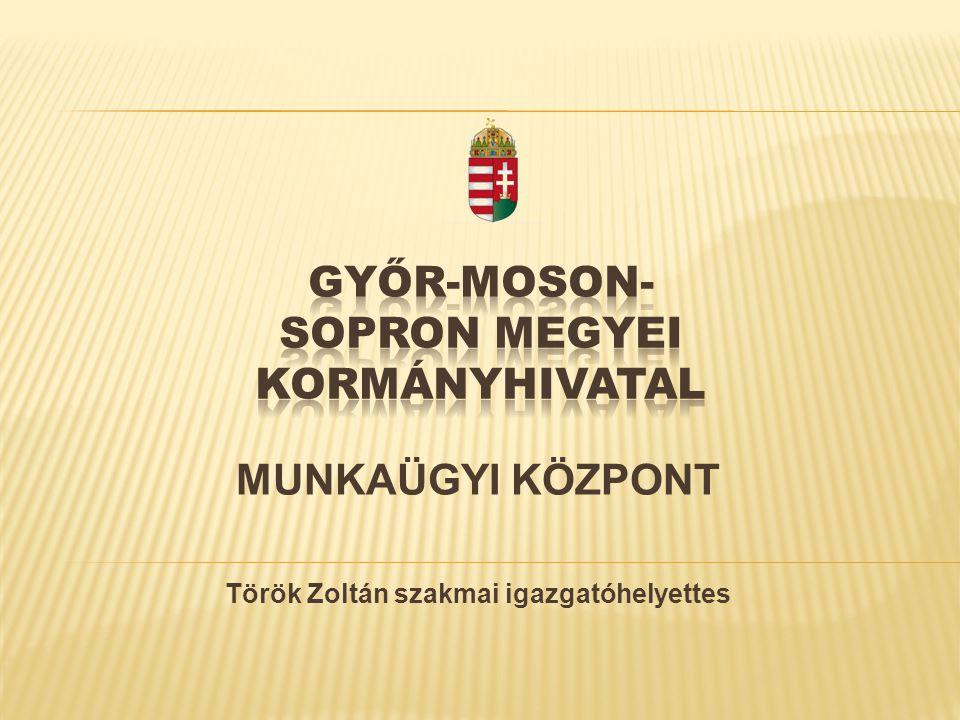 MUNKAÜGYI KÖZPONT Török Zoltán szakmai igazgatóhelyettes