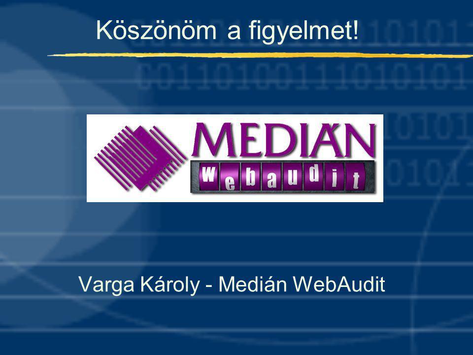 Köszönöm a figyelmet! Varga Károly - Medián WebAudit