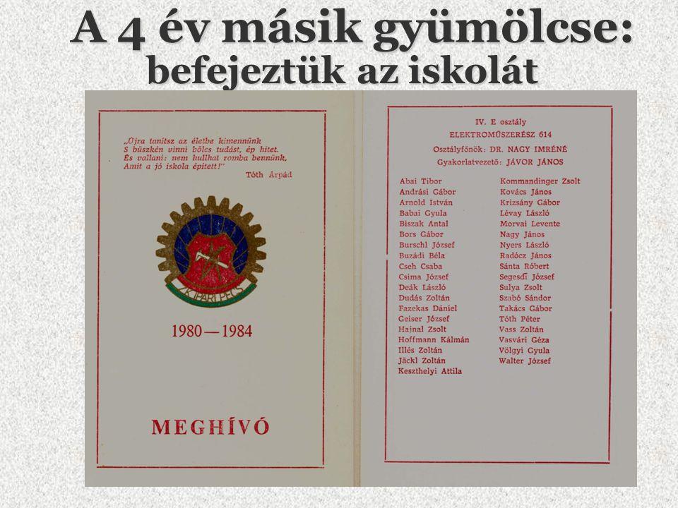 Segesdi József alias:Feszoly 1980 1984