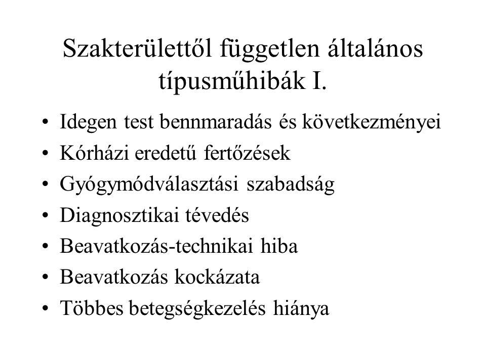 Műtétes szakmák II.