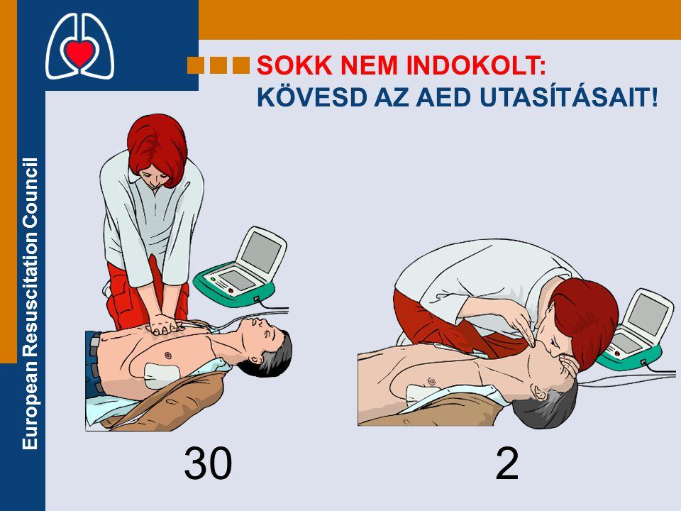 European Resuscitation Council SOKK NEM INDOKOLT: KÖVESD AZ AED UTASÍTÁSAIT! 30 2