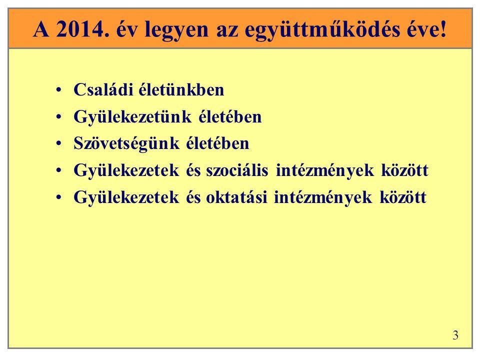 A 2014. év legyen az együttműködés éve.