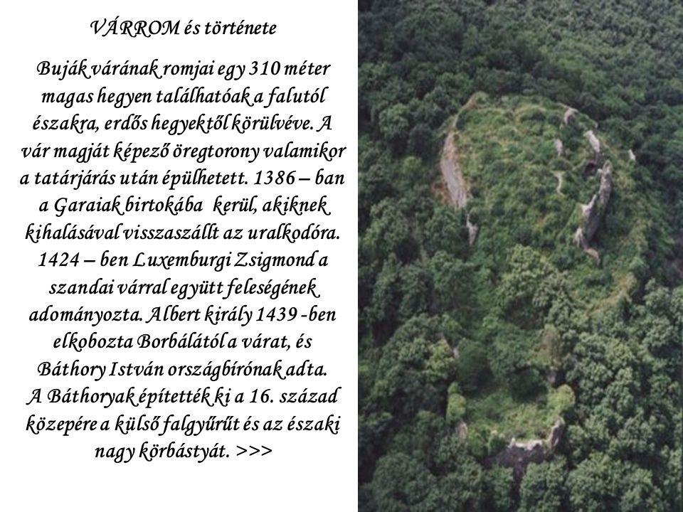 BUJÁK VÁRA XV.- XVI.sz.