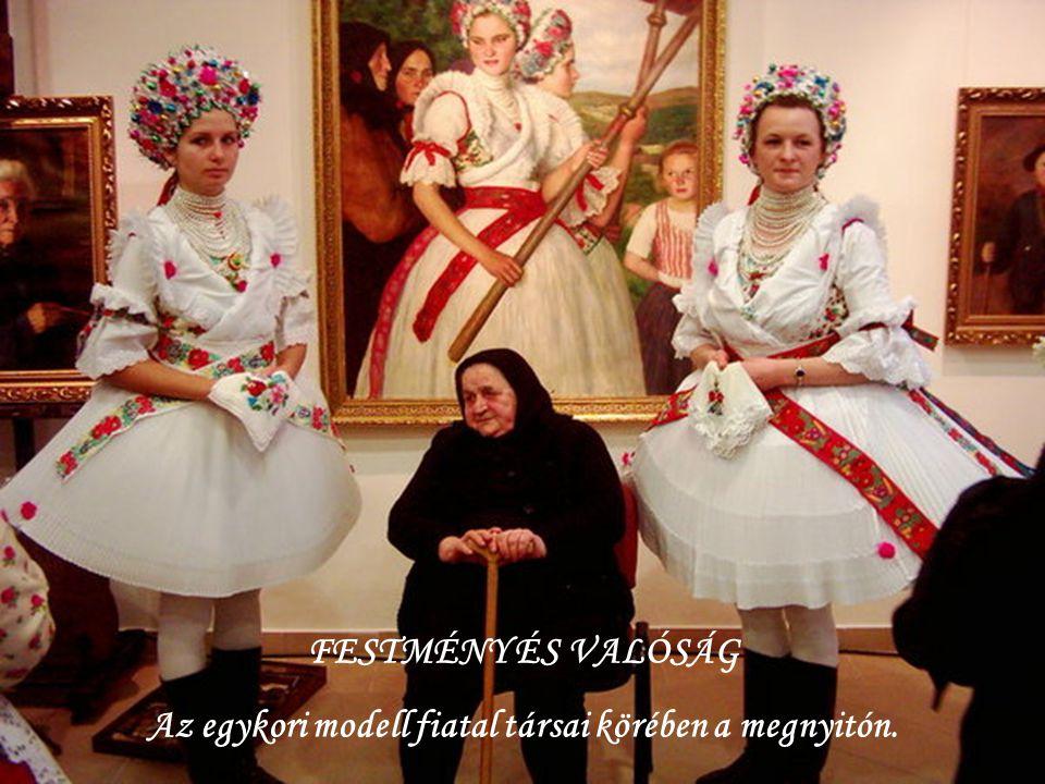 A galéria megnyitóján a festő egykori modelljei közül ketten is megjelentek.