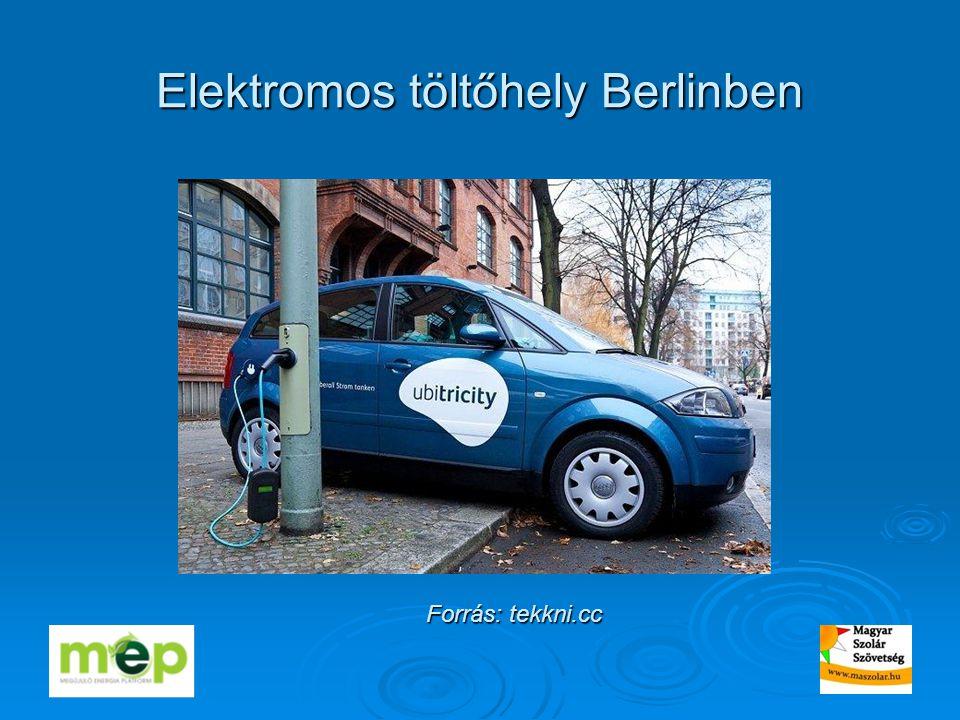 Elektromos töltőhely Berlinben Forrás: tekkni.cc