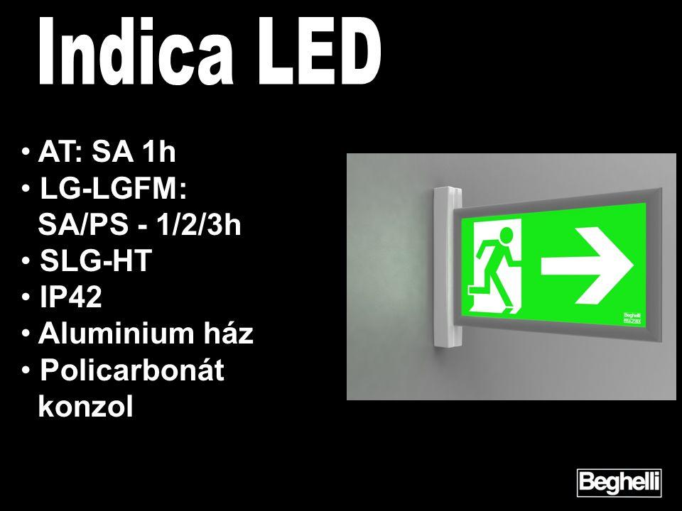 • AT: SA 1h • LG-LGFM: SA/PS - 1/2/3h • SLG-HT • IP42 • Aluminium ház • Policarbonát konzol