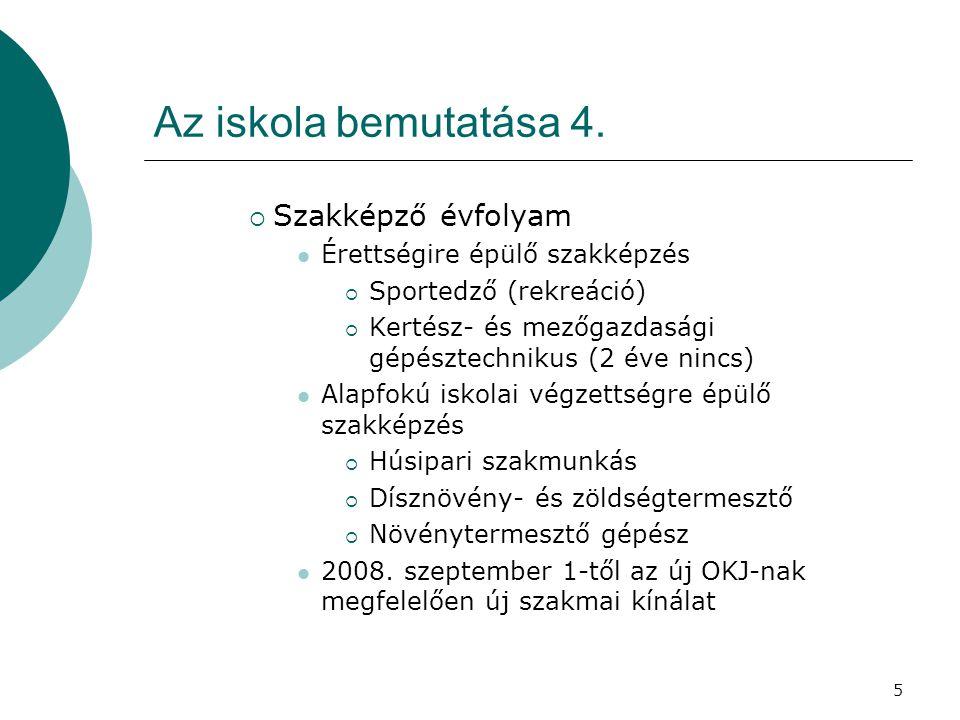 5 Az iskola bemutatása 4.