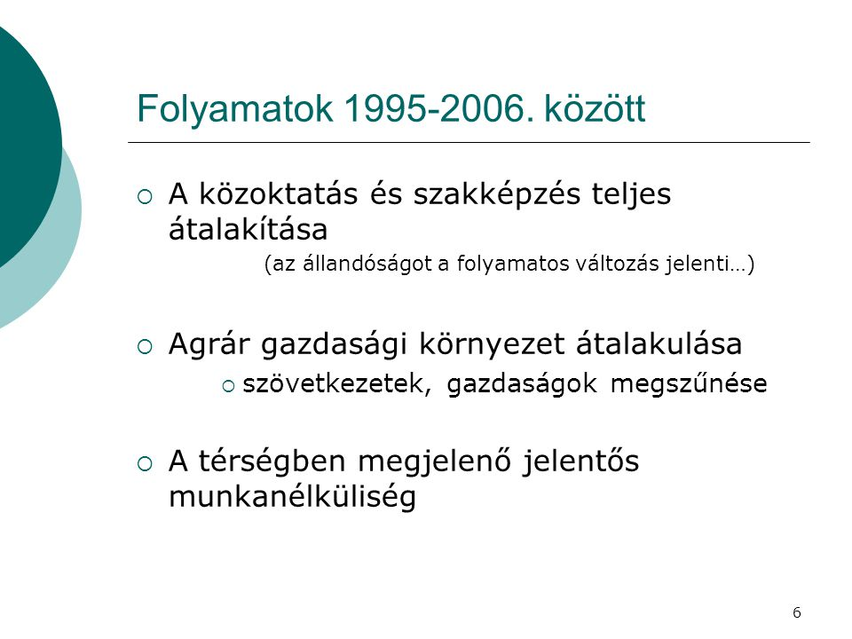 6 Folyamatok 1995-2006.