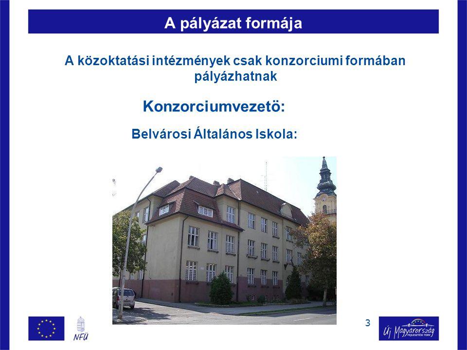 4 A pályázat formája Konzorciumi tag : Szent-Györgyi Albert Általános Iskola: