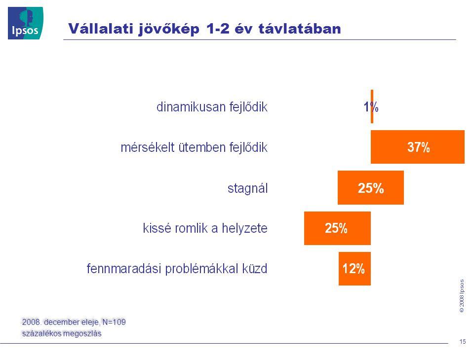 © 2008 Ipsos Vállalati jövőkép 1-2 év távlatában 15 25% 2008.