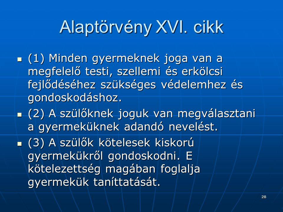 28 Alaptörvény XVI.