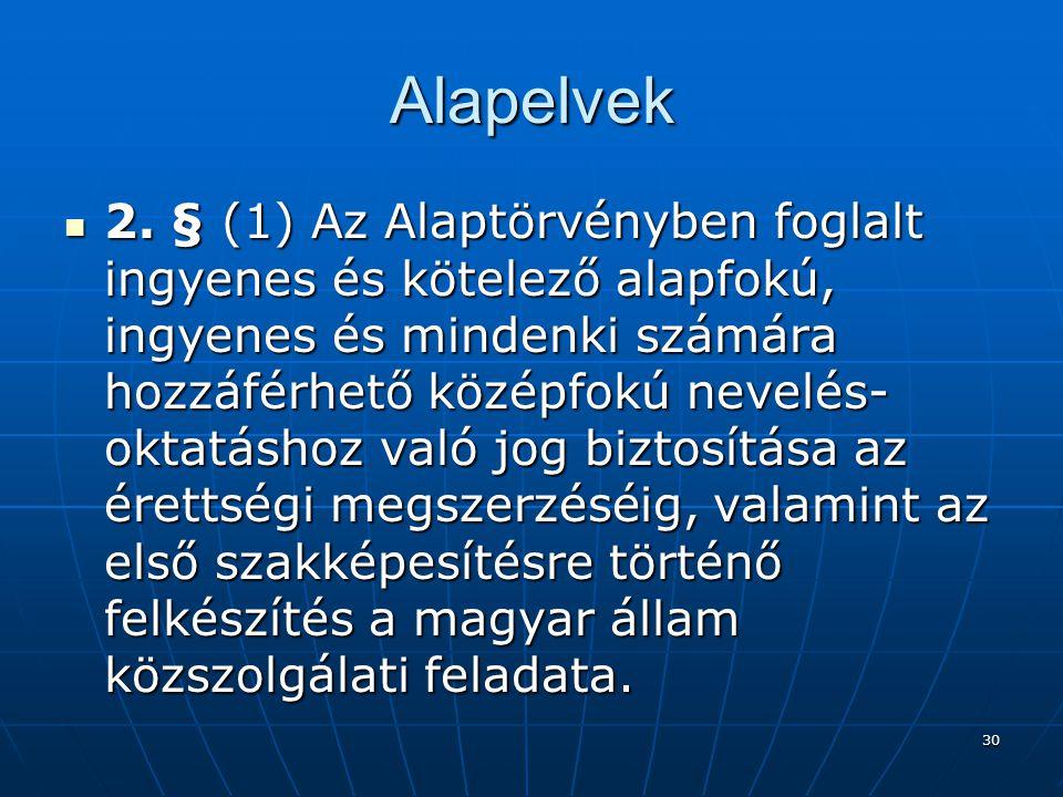 30 Alapelvek  2.