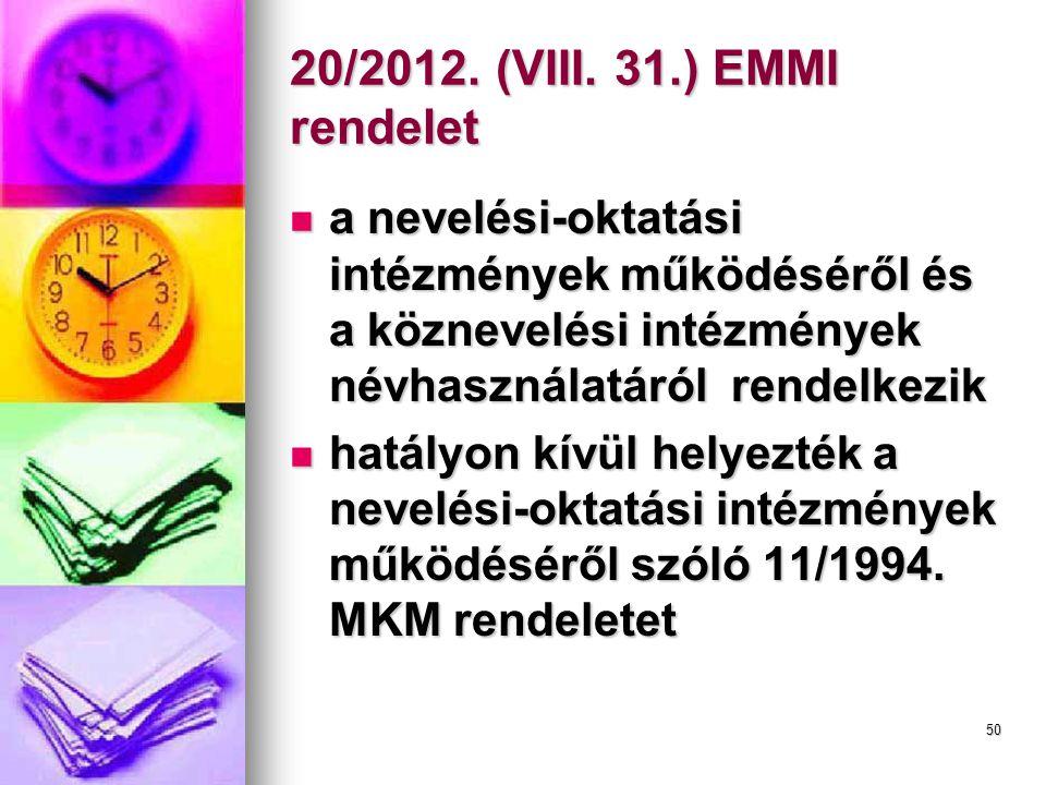 50 20/2012.(VIII.