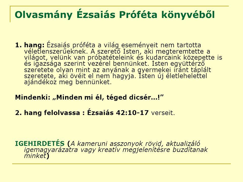 Olvasmány Ézsaiás Próféta könyvéből 1.