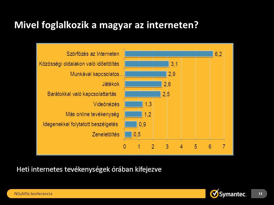 Mivel foglalkozik a magyar az interneten.