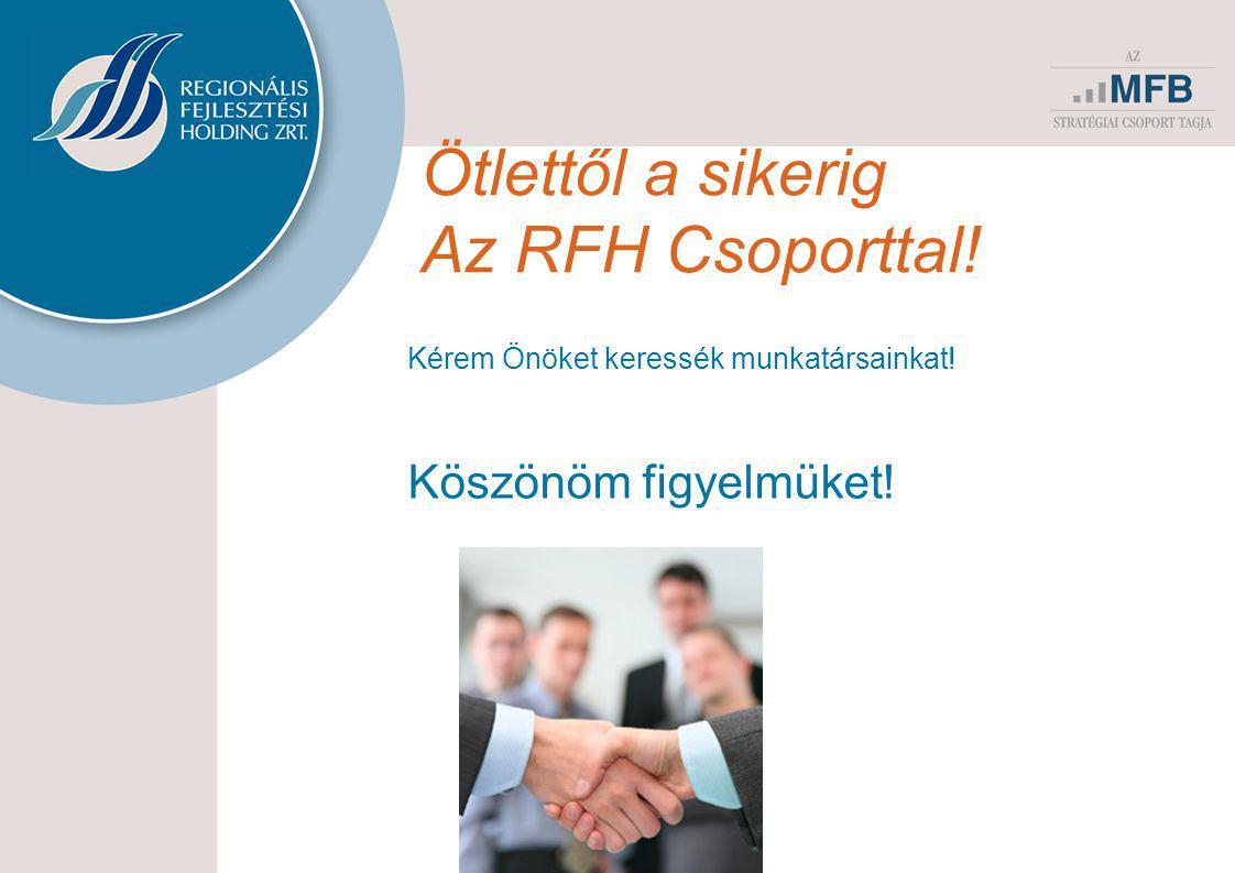 Ötlettől a sikerig Az RFH Csoporttal! Kérem Önöket keressék munkatársainkat! Köszönöm figyelmüket!