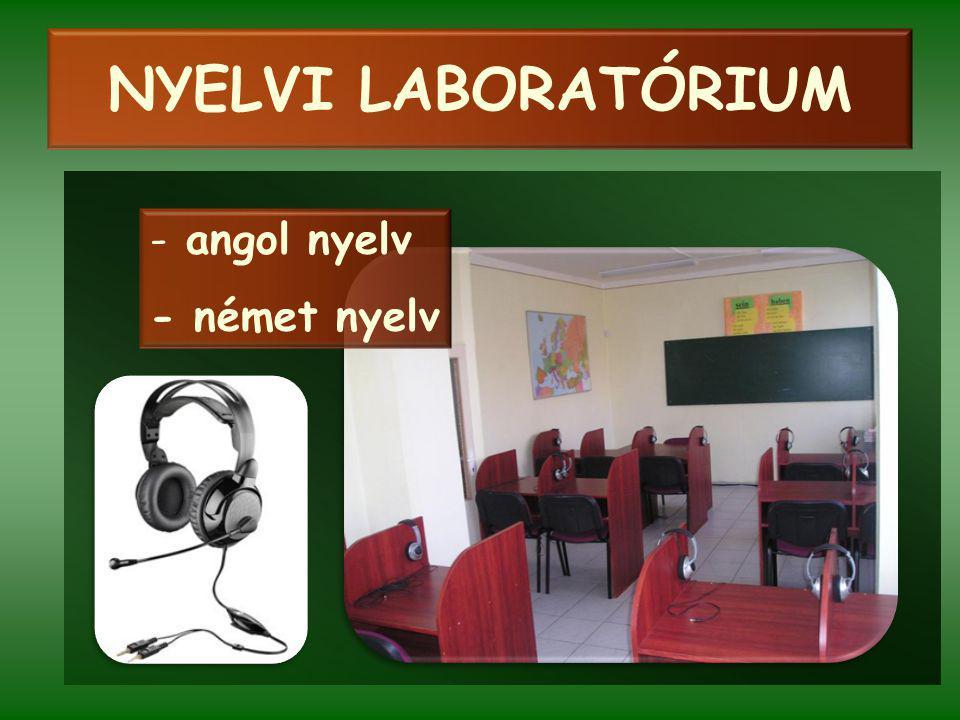 NYELVI LABORATÓRIUM - angol nyelv - német nyelv