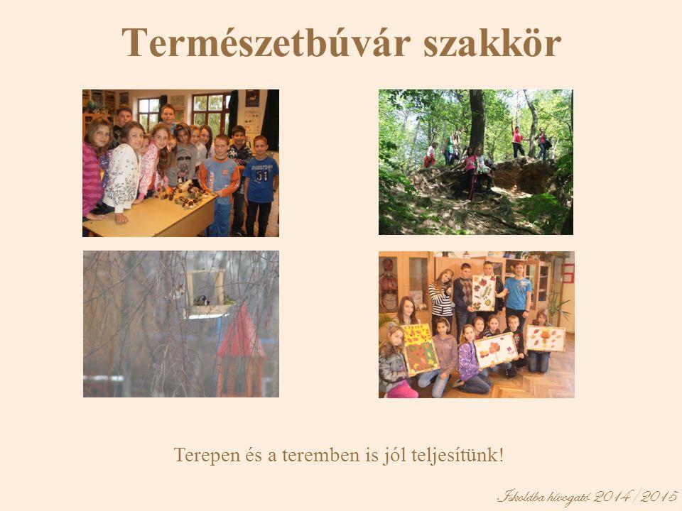 Iskolába hívogató 2014/2015 Természetbúvár szakkör Terepen és a teremben is jól teljesítünk!