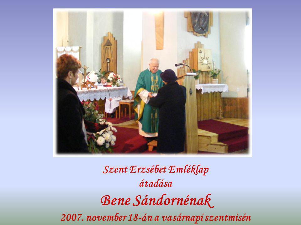 SZENT ERZSÉBET ÉVE 2007.